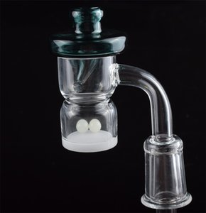 New XL XXL Splash Guard Quartz Banger Nail With With Colored Glass UFO Carb Cap Terp Pearl 10mm 14mm 18mm for Water Pipes