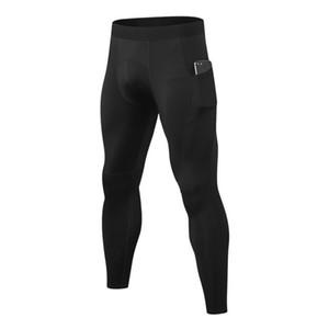 Bisiklet Pantolon Yüksek Elastik Sıkı Hızlı kuruyan Ter Pantolon Koşu Erkekler PRO Sıkı Pantolon Pocket Spor Eğitimi