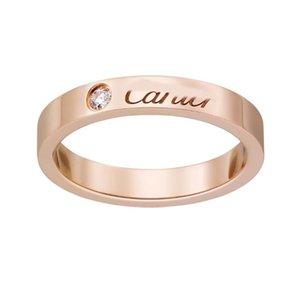 Новое серебро Золото 2020 Горячие Boutique Любовь Titanium стальные гвозди Кольца Lovers Ленточные кольца Размер для женщин и мужчин марка ювелирных изделий Женщина