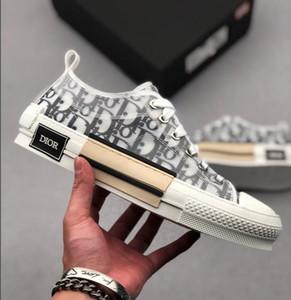 Dior Homme B23 X KAWS spor ayakkabısıyla Kim Jones klasiği moda tasarımı eğik logosu erkekler ve kadınlar basketbol ayakkabıları rahat ayakkabı
