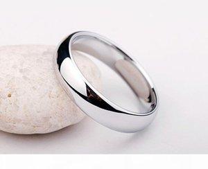 E Diamond Ring perdere soldi promozione puro reale oro bianco anelli per le donne e gli uomini con 18kgp bollo 5 millimetri superiore di colore dell'oro Anello Gioiello