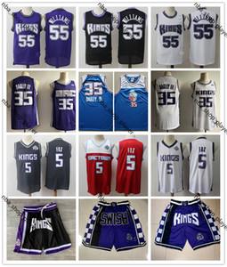 Mens Throwback Trikots De Aaron 5 Fox MarvinSacramento 35 Bagley III Jason Williams 55 Basketball ShortsKing Basketball Jerseys