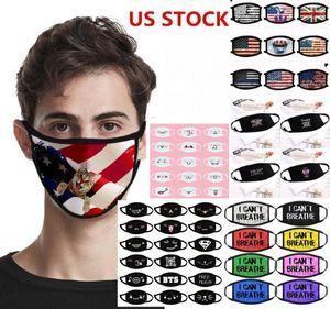 ACCIÓN US, Máscara Diseñador Anti polvo negro Vidas La materia que no puede respirar por máscaras de la bandera de algodón de dibujos animados Ciclismo Trump lavable de tela reutilizables