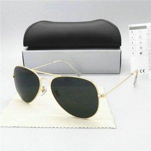 Premium Large Classic Matte Metal Aviator Sunglasses With Green Tinted Glasses Lens Premium Large Classic Matte Metal Aviator