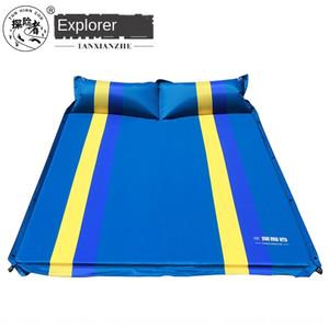 مستكشف التخييم في الهواء الطلق شخصين الربط التلقائي PVC حصيرة التخييم حصيرة النوم سرير قابل للنفخ سرير قابل للنفخ