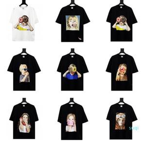 Fashion- 한국 전기 드 보헤미안의 ADLV 브랜드 디자이너 최고 품질 남성 여성 T 셔츠 패션 티셔츠 짧은 소매 인쇄하기