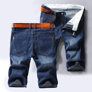 2020 лето новый стиль Тонкие короткие джинсы Раздел Упругие Force Slim Fit Короткие Бизнес Clasic Мужчины Марка Одежда Черный Синий