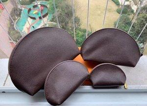 4pcs brown Womens designer bags organizer makeup bag travel pouch make up bag ladies cluch purses organizador toiletry bag