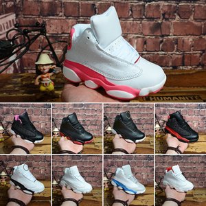 2020 Hot 13s Kids Basketball Shoes Children Outdoor Sports Gym Red Chicago Black Pink Boys Girls 13 Athletic Sneakers EUR 28-35
