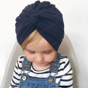 Hot Selling New Baby Girl Knot india Beanie Hats Kids Children Headwear turban Caps Fashion Accessories