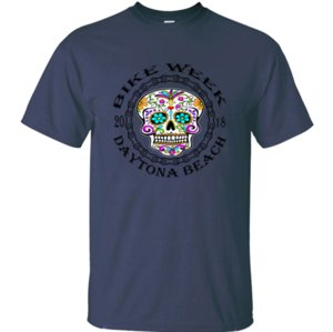 designer Funny Casual Daytona Bike Week Sugar Skull 2018WhiteTigerLLC. tshirt men Leisure male tshirts Harajuku Graphic top tee