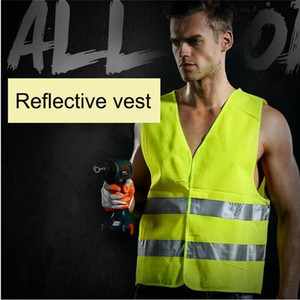 Vests Reflective Stripe Traffic Vests High Visibility safety Vest Sanitation Worker Wear Reflective Vest Police Working Clothing LSK294