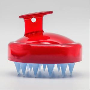 Shampoo Scalp escova de massagem confortável lavar o cabelo Silicone Comb Corpo Bath Adulto Shampoo Massageador Pessoal de Saúde 8 cores DHE544