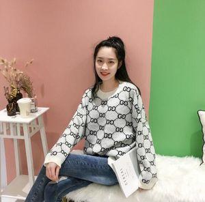 1128 2020 Herbst-freier Verschiffen-Marke der gleiche Art Pullover Red Sweater Luxusmode-Frauen Kleidung QIAN
