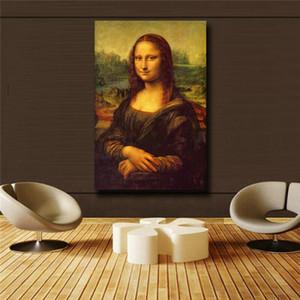 """Leonardo Da Vinci """"Mona Lisa Smile"""" Home Decor pintado à mão HD cópia da pintura a óleo sobre tela Wall Art Canvas Pictures 200727"""