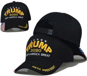 Boné de beisebol Trump 15styles manter a América Great Again Chapéus 2020 Campaign EUA 45 American Flag Hat Canvas Bordado Snapback GGA3611