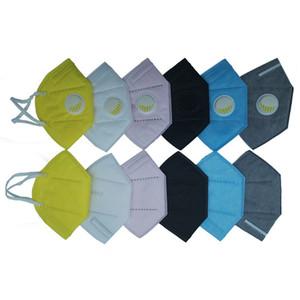 호흡 호흡 밸브를 사용 DHL UPS 페덱스 빠른 선박 도착 GB2626-2019 얼굴없이 6 색 일회용 마스크 PM2.5 보호 마스크 마스크