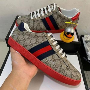 xshfbcl Hot progettista marque Casual Shoes white Ace green blue red stripe bee tiger snake loved sneaker for men women big size 36-45