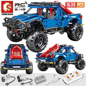 SEMBO Block 1630PCS City Remote Control Car Bricks Technic RC non-RC Trucks Pickup Model Building Blocks Toys For Kids
