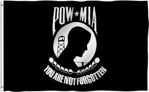 Esir MIA işaretle Savaşı Flags Tutsağı Not Forgotten olan 100D polyester Dijital Baskı Ücretsiz Kargo