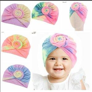 Nuevo bebé recién nacido del algodón Turbantes chica headwraps bebé colores 100% de algodón del sombrero de la gorrita tejida con el arco Sala de maternidad Sombrero