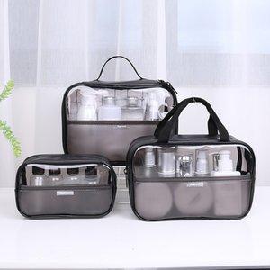 Женщины косметичка Прозрачный ПВХ макияж сумка Set Travel Kit Wash устроителя хранения сумка туалетных Box Bag Tote сумки мешка