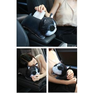 Car Accessories Cute Cartoon Plush Tissue Holder Box Cover Home Decor Paper Towel Holder Car Tissue Box #YL10