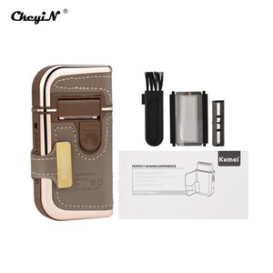 2016 Kemei Km 5600 2 In 1 Leather Case Men Electric Shaver Reciprocating Rechargeable And Cordless Razor Vintage Brown comecase nlTtO
