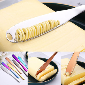 الفولاذ المقاوم للصدأ الجبن زبدة سكين أداة البسط مع فتحات الخبز مربى سكين الجبن أدوات زبدة سكين عشاء أدوات المائدة هبوط السفينة