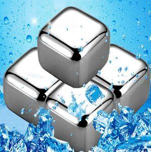 스테인레스 스틸 위스키 돌 아이스 큐브 빙하 쿨러 스톤 위스키 8PC 아이스 큐브 + 한 개씩 KTV 바 도구 클립 록스 GGA3590-2