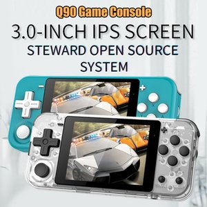 Bully boy Q90 Video Game Console Retro Handheld Game Machine IPS Screen With Dual Open System 16 Simulators Support PS1 for Kids 3D Games