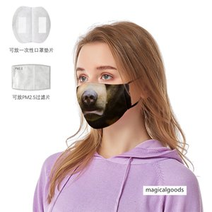 Animal Face 3D printing dustproof anti-fog mask PM2.5 non-disposable mask