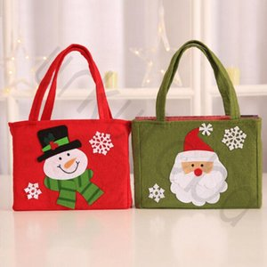Cute Snowman Santa Claus Elk Candy Cookie Gift Bag Handbag Merry Christmas Festival Home Party Decoration Storage Package 6XcX#