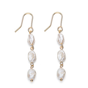 Earrings of Handmade Freshwater Pearl Hook 14K Gold Plated Drop Earrings for Women Fashion Earings Jewelry
