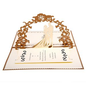 Wedding Invitation 3D Creative Wedding Invitation Personality Handmade Cards for Gift Simple Hollow Letter Wedding Supplies