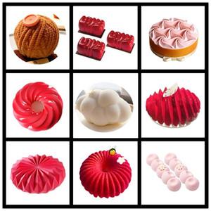 Shenhong NOUVEAU formes multiples gâteau silicone décoration moule pour la cuisson Moule Dessert Mousse bakvormen Pâtisserie Outils Pan Bakewar T200708