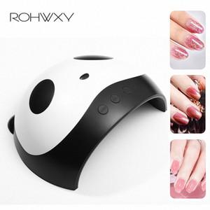 ROHWXY 36W UV LED Lampe ongles Sèche-mains Panda double ongles lampe UV pour Durcissement Gel Polish avec capteur minuterie LCD P22W #