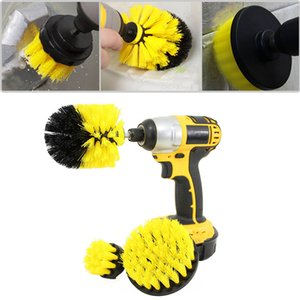 3 pcs Power Scrub Brush Drill Cleaning Brush for Bathroom Shower Tile Grout Cordless Power Scrubber Drill Attachment Kit