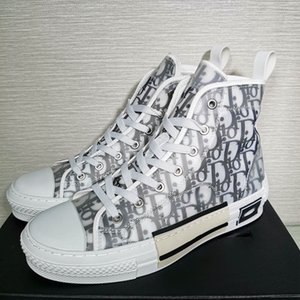 With New 2020 New Gao Bang Flowers Technical Canvas shoes High Top Oblique Casual shoes 3M Mens Women luxury Designer Shoes B2B
