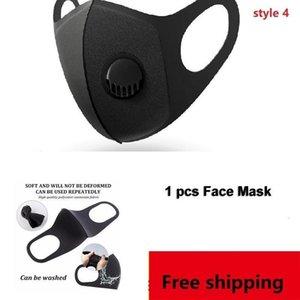 Gesicht VbBMO Verstellbare Masken Maske Anti-Staub-DHL im Freien Innen Freie Wiederverwendbare Wiederverwendetes Filterschutz mit PM2.5 Filter Mund Sm