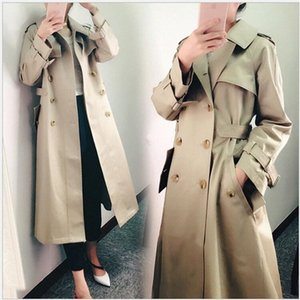 Spring Coat Women Trench coat Fashion Double Breasted Fashion Long Coats Casual Autumn Windbreaker Outerwear Coats PLRH#