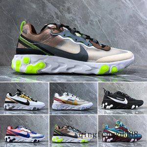 2019 React Element 87 Volt 55 Game Royal Taped Seams Running Shoes For Women men 55s Blue Chill Trainer 87s Sail Sports Sneakers S2C7W