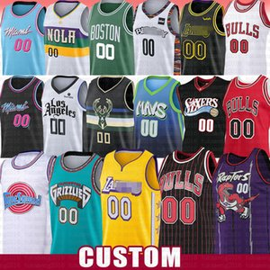 Los Angeles Bull Grizzlie sur mesure Basketball Maillots Clipper Net Rocket New Orleans Heats Buck Pelican faucon Magics film Space Jam Tune Squad