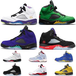 nike air jordan 5 retro 5 Vente en gros Jumpman 5 de raisin pourpre SE Oregon Autre Bel mens chaussures de basket-ball feu concepteur rouge rétro mens taille des formateurs