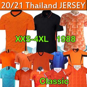 20 21 Netherlands jerseys DE JONG Holanda van Dijk VIRGIL Retro 1988 Netherlands Soccer Jersey Van Basten camisas de futebol uniformes xxs-4xl