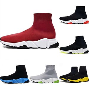 With Box 2020 Speed Stretch Knit Breathable High Top Sports Sock Boots Originals Speed Mix Buffer Rubber Trainer Shoes