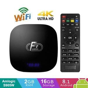 A95X F1 الذكية الروبوت 8.1 TV صندوق 2GB 16GB AMLogic نوع S905W رباعية النواة 2.4GHZ ل4K واي فاي تعيين كبار مربع 1GB 8GB