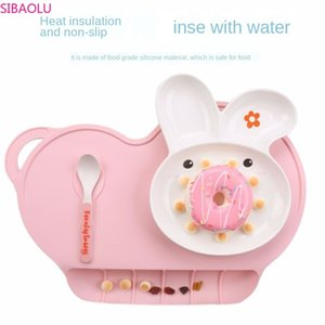 Baby Portable Insulated Waterproof Food Grade Silicone Place Mat Child Mobile Dinner Plate Baby Sucker Table Mat T200703