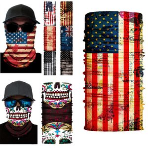 10 Color American Flag Mask Outdoor Seamless Magic Scarf Face Mask Scarf Cycling Riding Masks multi-function Neckerchief XL2195