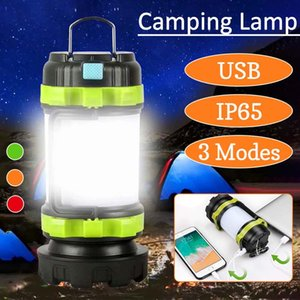LED Kamp Işık USB Şarj edilebilir Dim Taşınabilir Spotlight İş Işık Su geçirmez Searchlight Acil Meşalesi